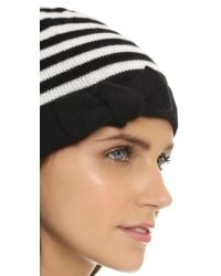 kate spade new york - Black Modern Heritage Stripe Beanie - Lyst