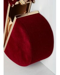 Nila Anthony - Keen Of Hearts Clutch In Red - Lyst