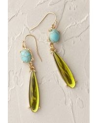 Anthropologie | Blue Citrine Dewdrop Earrings | Lyst