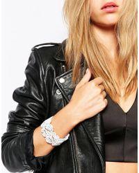 Lipsy | White Filigree Bracelet | Lyst