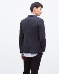 Zara | Gray Single Button Blazer for Men | Lyst
