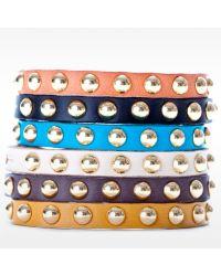 Linea Pelle | Blue Skinny Dome Stud Bracelet | Lyst