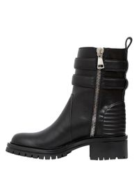 Givenchy - Black 30Mm Buckled Leather Biker Boots - Lyst
