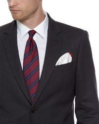 Jaeger | Red Twill Stripe Tie for Men | Lyst
