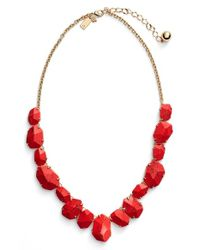 kate spade new york | Red 'quarry Gems' Frontal Necklace - Coral | Lyst