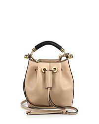 Chloé | Beige Gala Small Leather Bucket Bag | Lyst