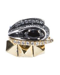 Iosselliani | Metallic Set Of Rings | Lyst