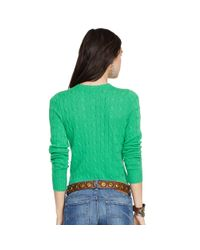 Polo Ralph Lauren - Green Slim-Fit Cabled Cashmere - Lyst