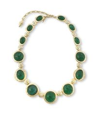 Kenneth Jay Lane - Green Emerald Cabochons Necklace - Lyst