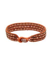 DIESEL - Orange Bracelet - Lyst