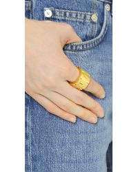 Acne Studios | Metallic Elisa Ring - Gold | Lyst