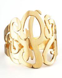 Jennifer Zeuner | Metallic Three-Initial Monogram Ring | Lyst
