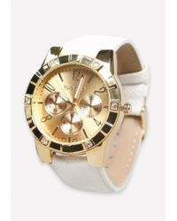 Bebe | Metallic Multi-wristband Watch | Lyst