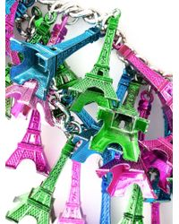 Andrea Crews | Metallic Eiffel Tower Charm Necklace | Lyst