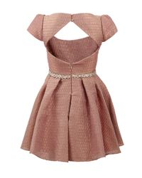 Notte by Marchesa - Pink Metallic Brocade Cocktail Dress - Lyst