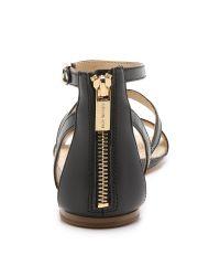 MICHAEL Michael Kors | Black Bria Flat Sandals | Lyst