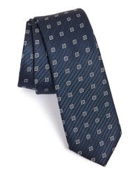 Calibrate | Blue Woven Silk Tie for Men | Lyst