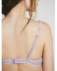 Free People | Purple Look Twice Underwire Bra | Lyst