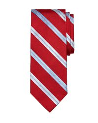 Brooks Brothers | Red Rope Split Stripe Tie for Men | Lyst
