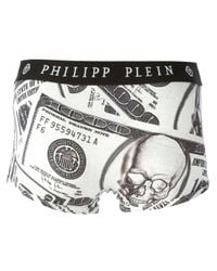 Philipp Plein - White One Dollar Boxers for Men - Lyst
