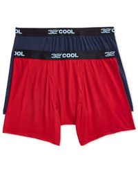 Weatherproof | Blue 32 Degrees Cool By Boxer Briefs, 2 Pack for Men | Lyst