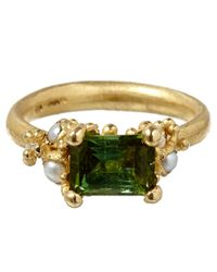 Ruth Tomlinson | Green Gold Tourmaline Ring | Lyst