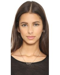Rebecca Minkoff - Metallic Crystal Zigzag Necklace - Gold/clear - Lyst