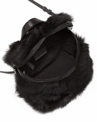 Marc By Marc Jacobs - Black Fur Canteen Cross-Body Bag - Lyst
