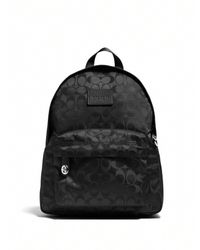 COACH - Black Small Logo-patterned Nylon Backpack - Lyst
