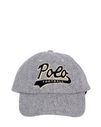 Polo Ralph Lauren | Gray Wool Blend Baseball Hat | Lyst