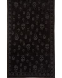 Alexander McQueen | Black Tonal Skull Towel for Men | Lyst