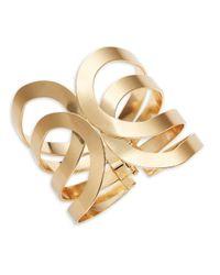 Lord & Taylor - Metallic Cutout Hinge Cuff Bracelet - Lyst