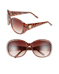 Vince Camuto | Brown 64mm Oval Sunglasses | Lyst