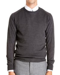 DKNY - Gray Half Raglan Pullover for Men - Lyst