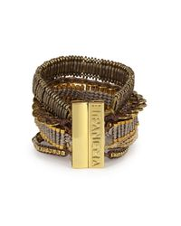 Hipanema | Metallic Gold Tone Embellished Cuff | Lyst