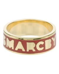 Marc By Marc Jacobs | Red Dreamy Logo Ring | Lyst