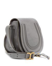 Chloé - Gray Marcie Leather Crossbody Bag - Lyst