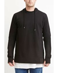 Forever 21 | Black Cotton-blend Vented Hoodie for Men | Lyst