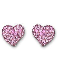 Swarovski | Pink Eros Pierced Earrings | Lyst