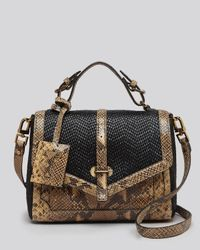 Tory Burch | Black Satchel 797 Medium Snake Embossed | Lyst