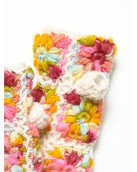 Free People | Multicolor Flower Crochet Arm Warmer | Lyst