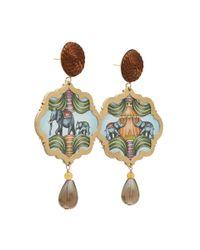 Anna E Alex - Brown Elephants Circus Drop Earrings - Lyst