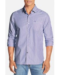 Tommy Bahama | Purple 'paradise Island Stripe' Pima Cotton Sport Shirt for Men | Lyst