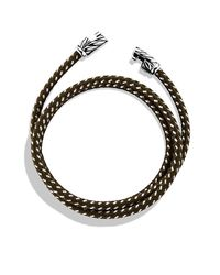 David Yurman - Yellow Chevron Triple-wrap Bracelet for Men - Lyst