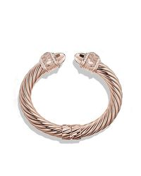 David Yurman - Pink Renaissance Bracelet With Diamonds In Rose Gold, 10mm - Lyst