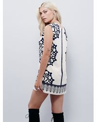 Free People - White Womens Geodesic Dunes Shift Dress - Lyst