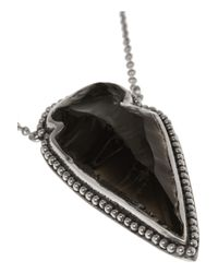 Pamela Love Black Arrowhead Silver Obsidian Necklace