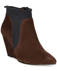 Bella Vita | Brown Deryn Wedge Booties | Lyst