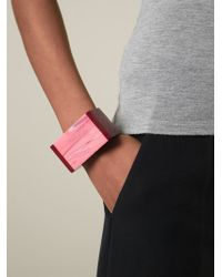 Stella McCartney | Red 'mixed Stones Plexi' Cuff | Lyst