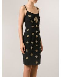 Alberta Ferretti - Metallic Jeweled Dress - Lyst